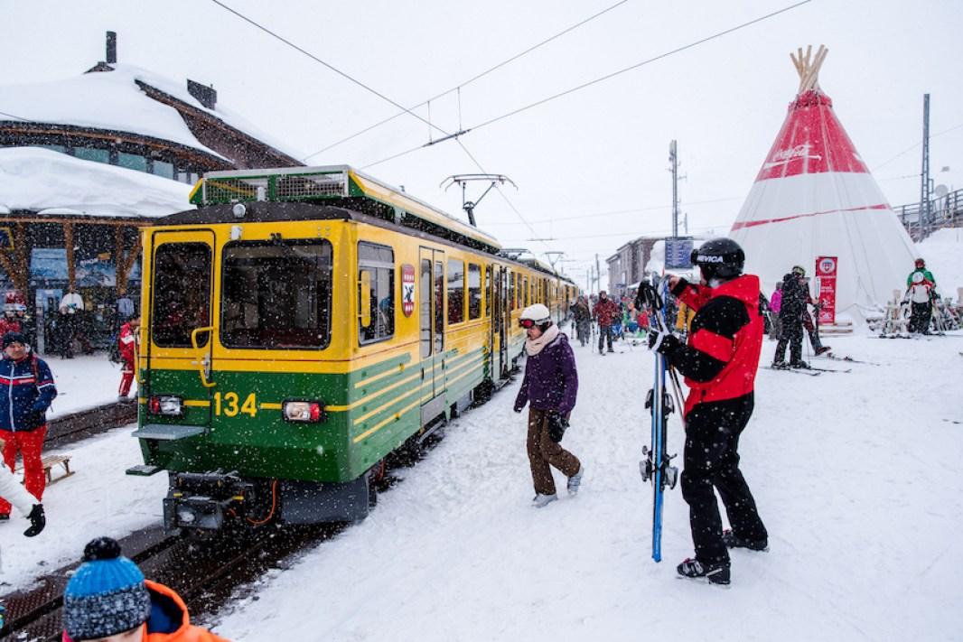 Train Wengen, Switzerland - by Ben Holbrook.