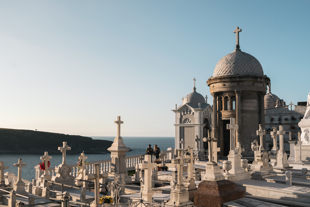 Luarca Cemetery, Asturias, northern Spain. By Ben Holbrook from DriftwoodJournals.com