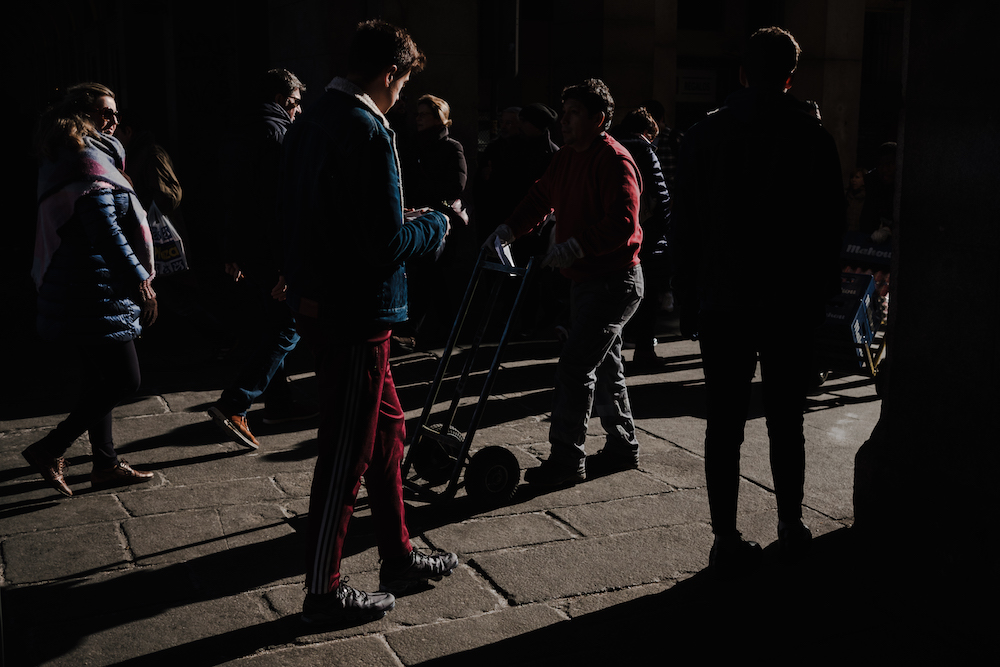Local life in Plaza Mayor, Madrid Street Photography Essay - by Ben Holbrook DriftwoodJournals.com