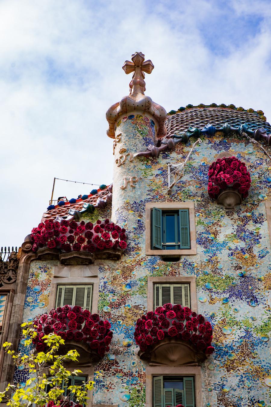 Casa Batllo Sant Jordi Day Barcelona ~ By Ben Holbrook from DriftwoodJournals.com10