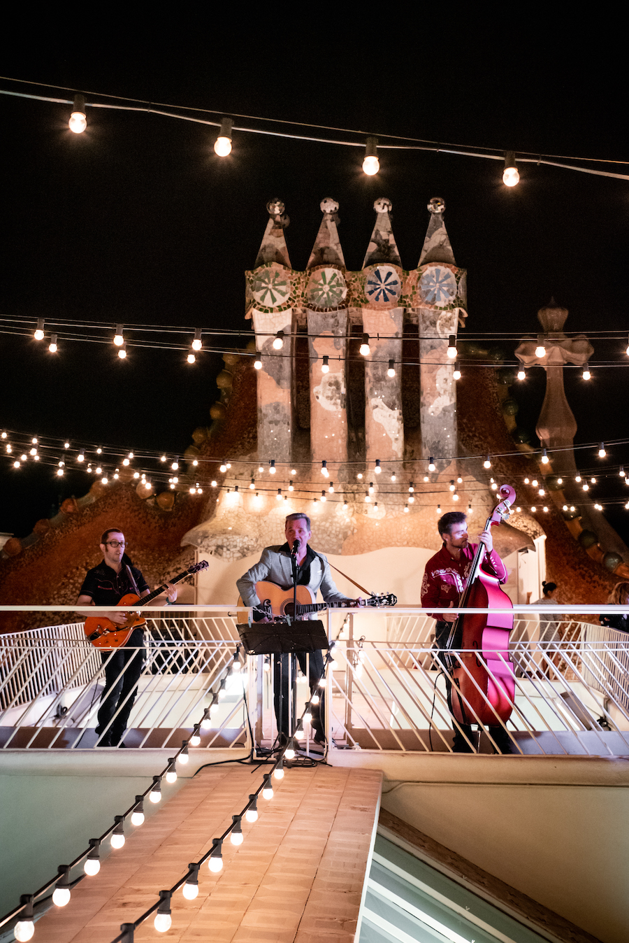 Magic Nights Rooftop Live Music at Casa Batllo Sant Jordi Day Barcelona ~ By Ben Holbrook from DriftwoodJournals.com10