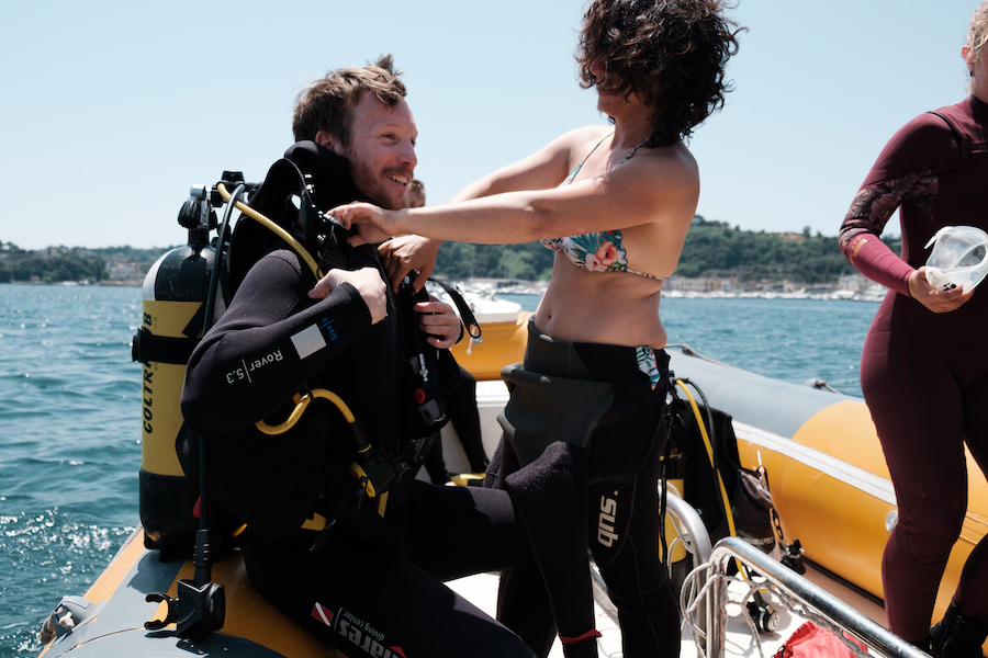 Ben Diving at Baia - by Ben Holbrook