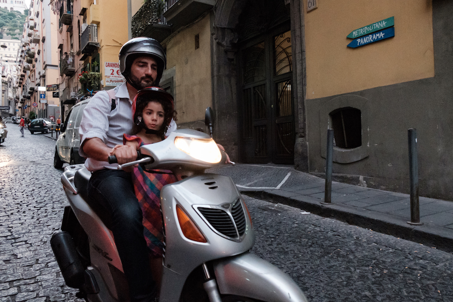 Crazy Scooter Riders with No Helmets in Naples, Italy Tavel Photography By Ben Holbrook from DriftwoodJournals.com-5122