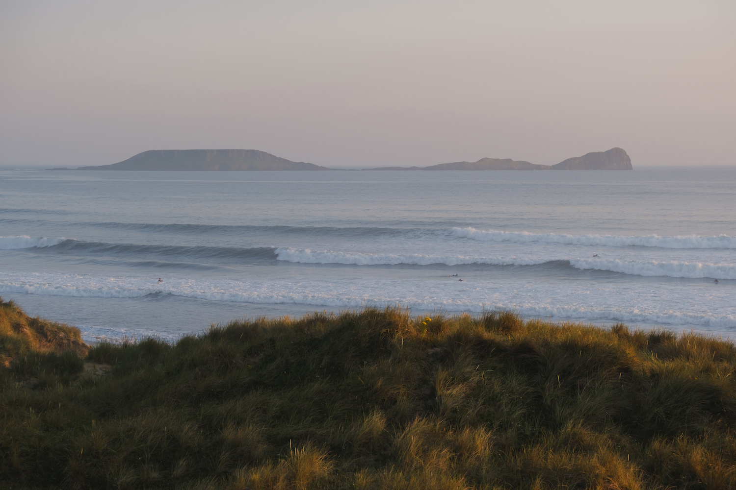 Llangennith Beach Surfers at Sunset by Ben Holbrook from BenHolbrook.com-7