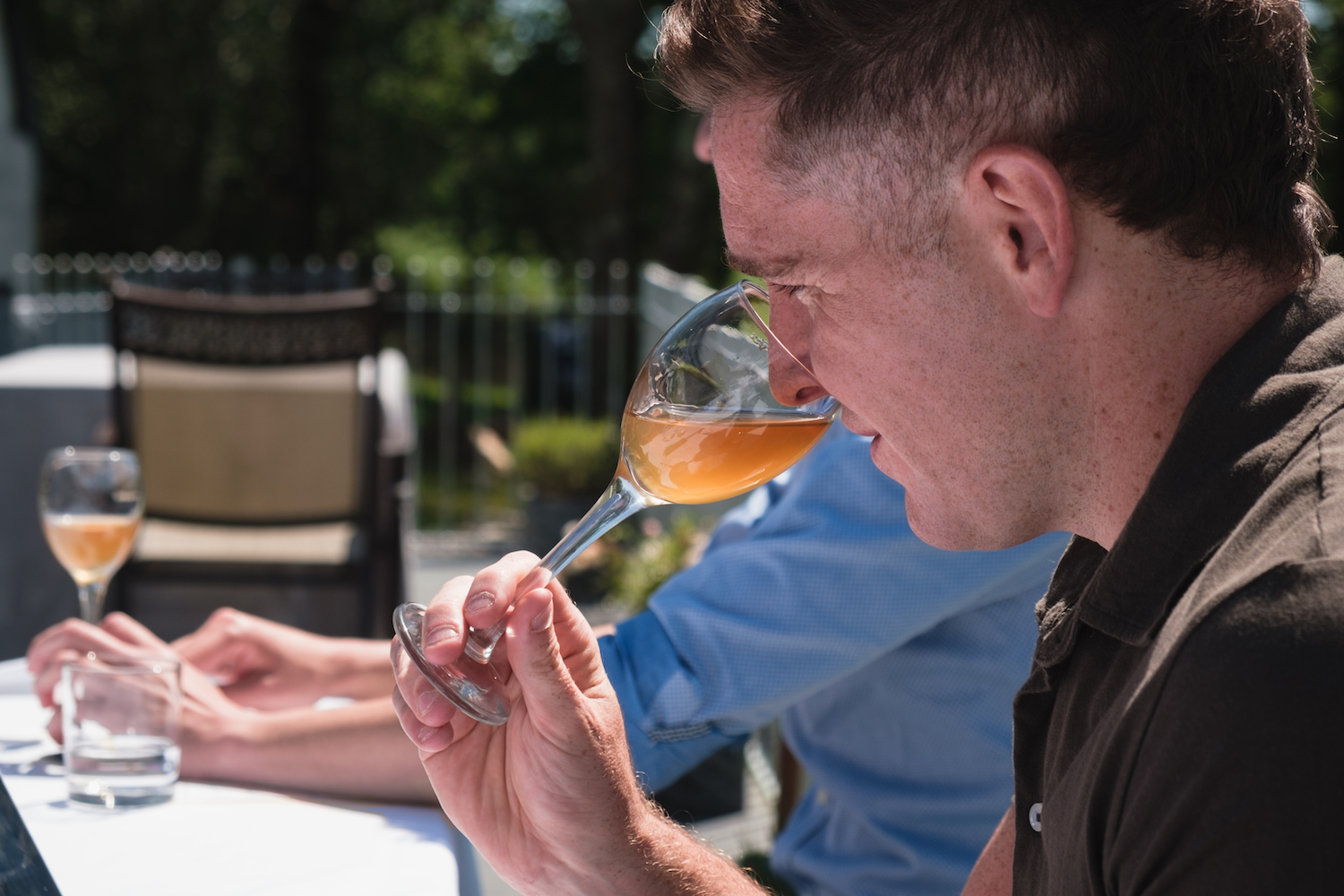 Drinking Ancre hill Orange Wine during Welsh Wine Week - by Ben Holbrook-7
