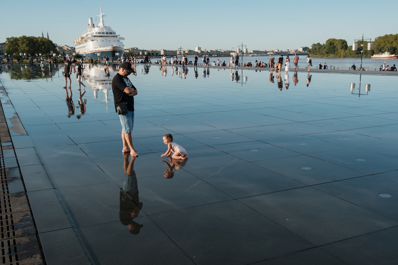 Miroir d'eau (Mirror of Water), Bordeaux Travel & Street Photography by Ben Holbrook from DriftwoodJournals.com-121