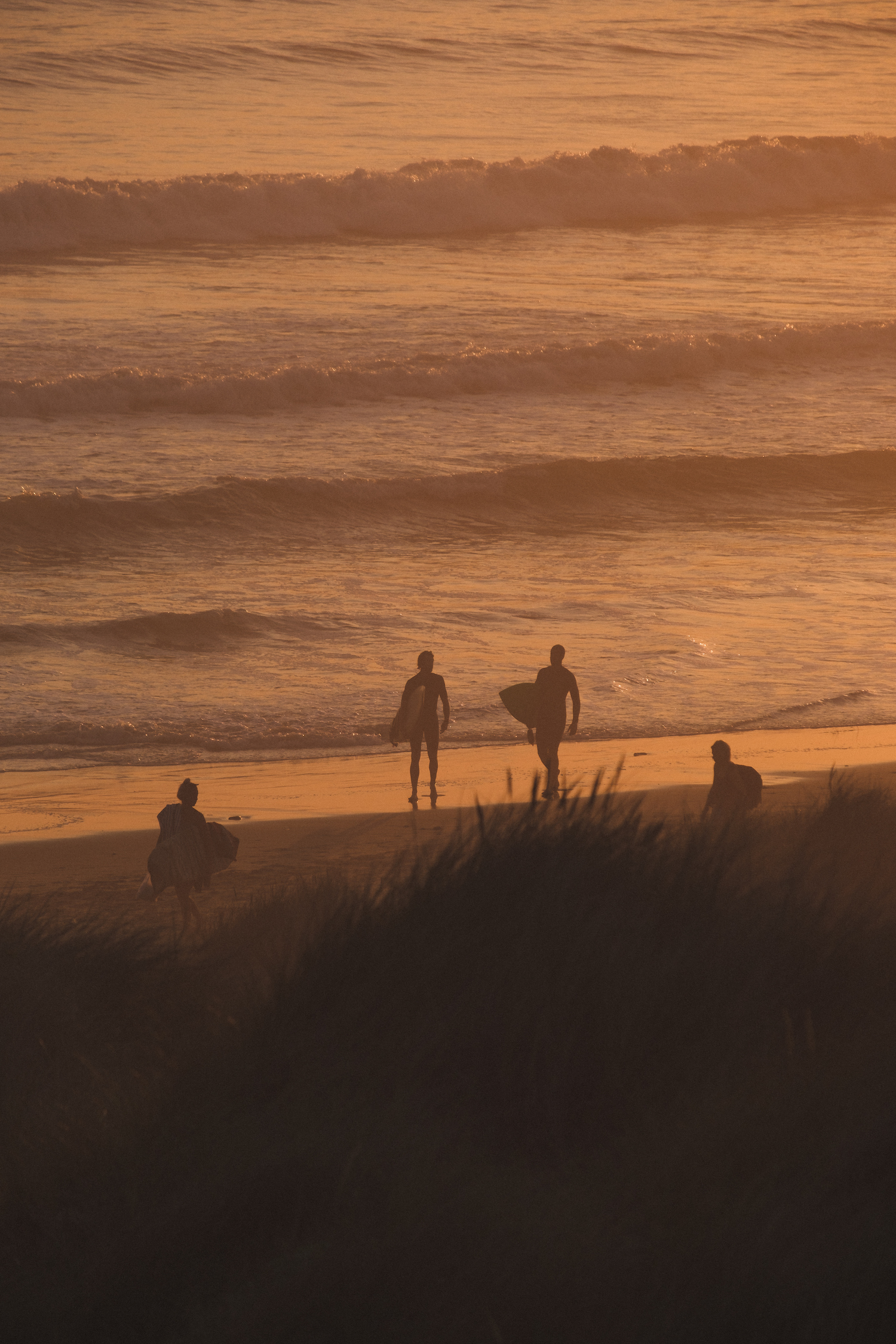 Surfers at Llangennith Beach Surfers at Sunset by Ben Holbrook from BenHolbrook.com-13