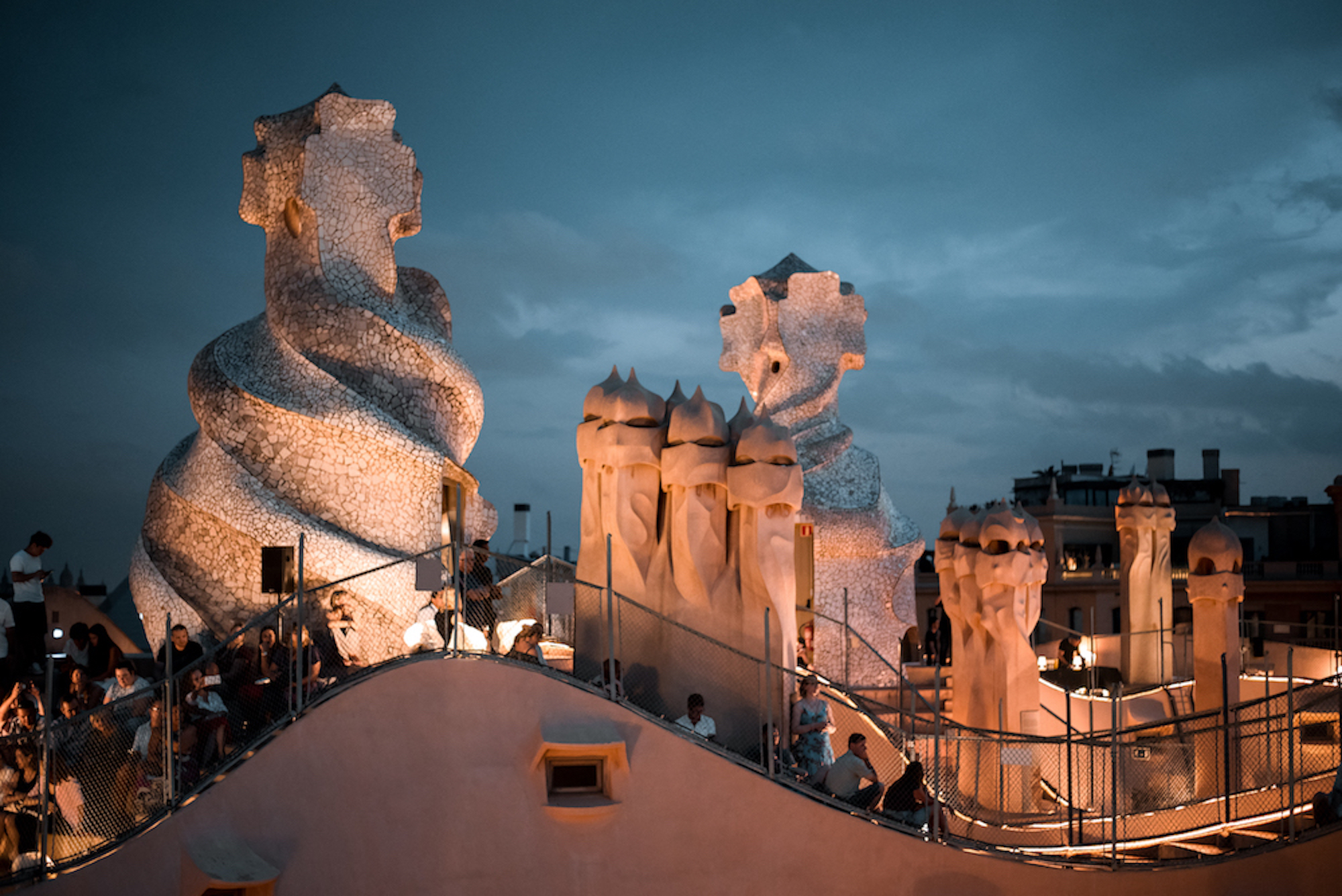 Live Music on Rooftop of La Pedrera Antoni Gaudi Building in Barcelona - by Ben Holbrook from DriftwoodJournals.com3