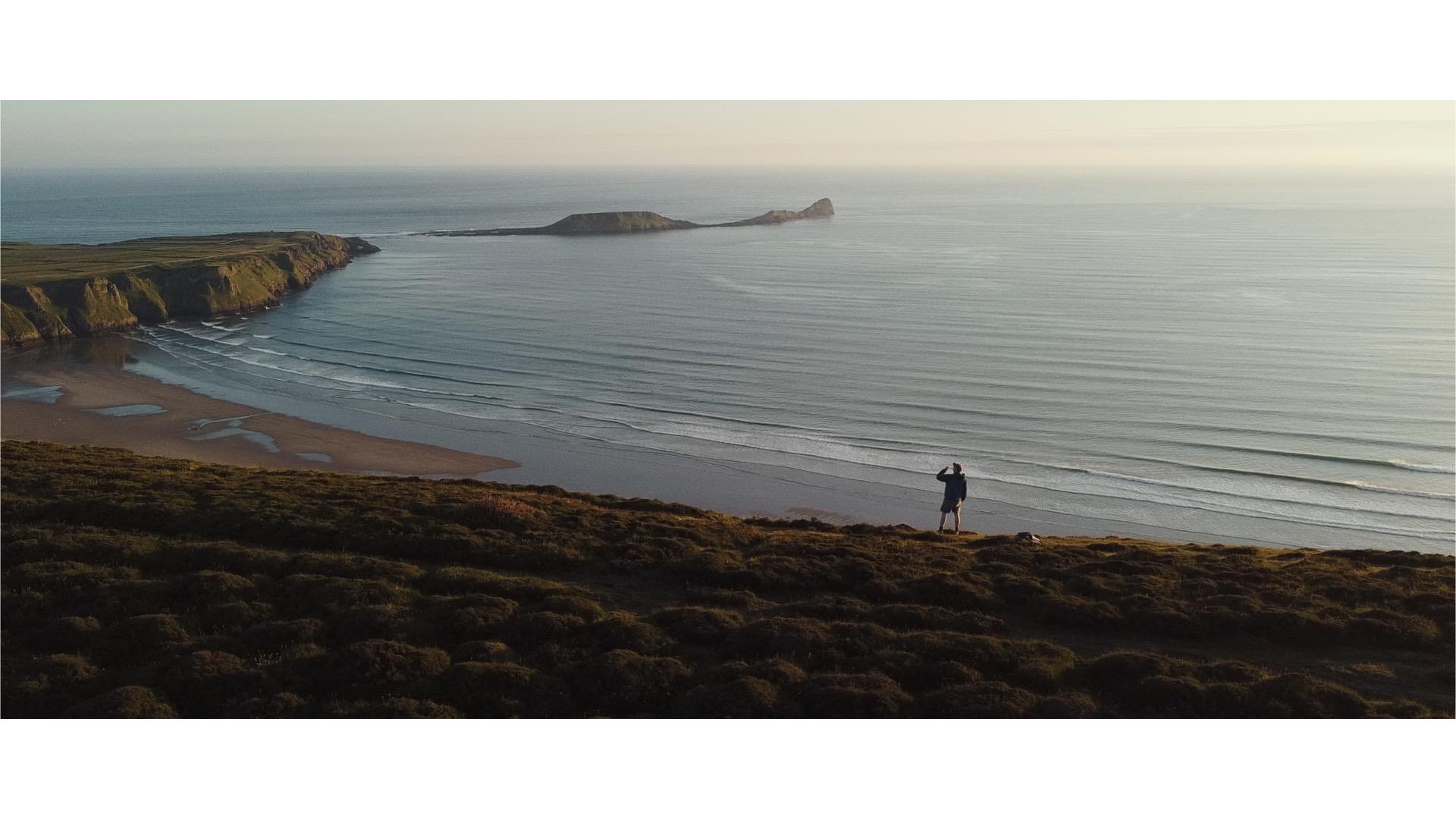 Rhosilli Down Hiking Path Gower Peninsula