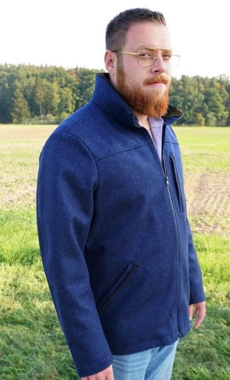 Herren Lodenjacke Waldgeist Classic Marineblau