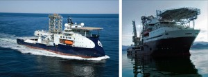 FMC Technologies' Island Constructor (left) and Island Frontier (right) vessels, both in the North Sea Alliance, offer integrated intervention services.