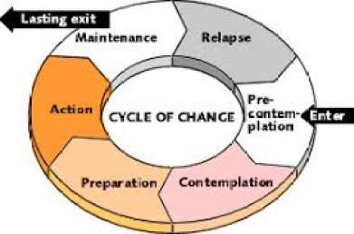 Graphic depicting the five cycles of change