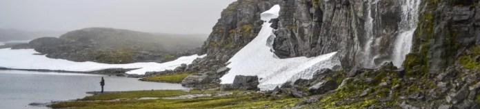 Man staring at a Fjord