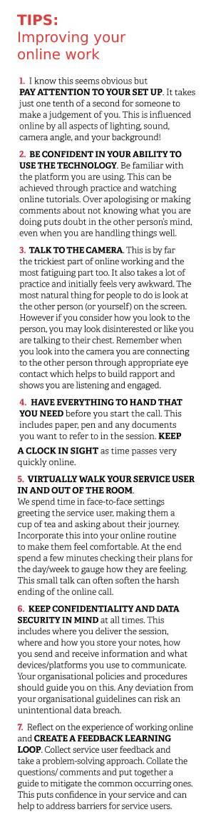 Online working tips