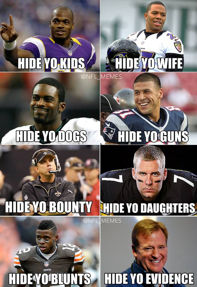 Image result for nfl player controversy meme