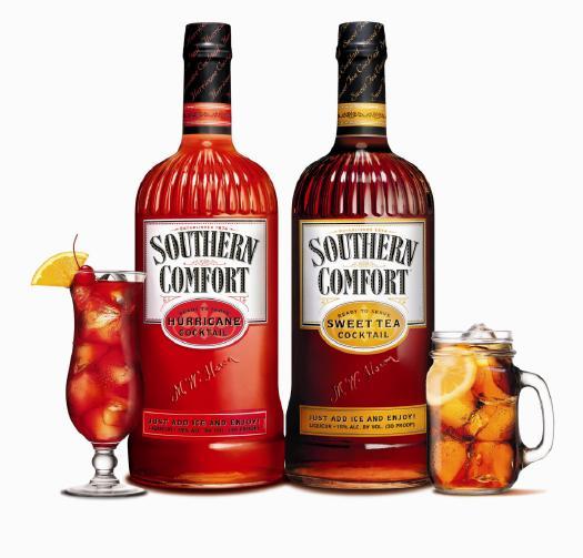 southern comfort hurricane sweet tea cocktail