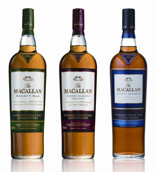 macallan 1824 - 4 bottle lineup