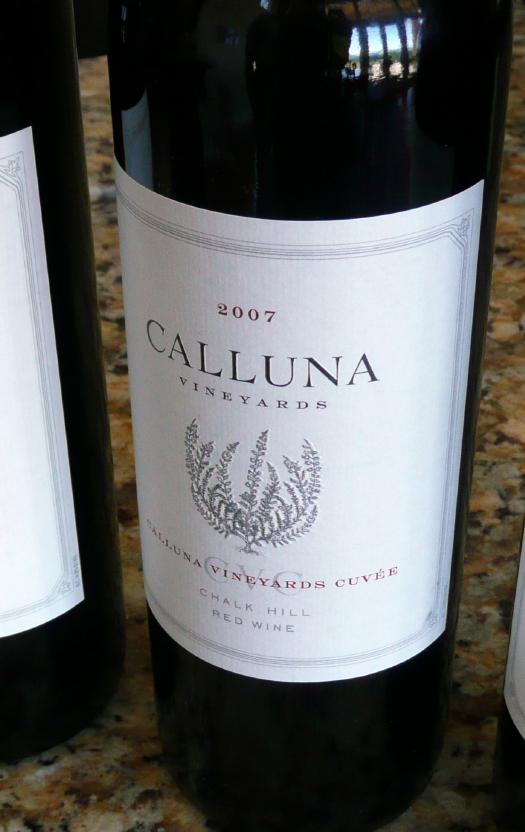 calluna vineyards 2007 cuvee