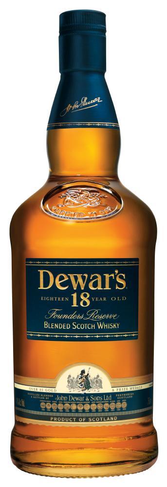 dewar's18 years old