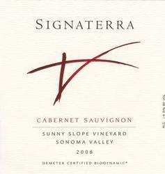 2008 Signaterra Cabernet Sauvignon Sonoma Valley Sunny Slope Vineyard