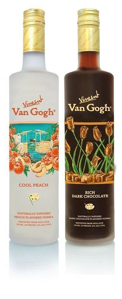 van gogh Rich Dark Chocolate and Cool Peach