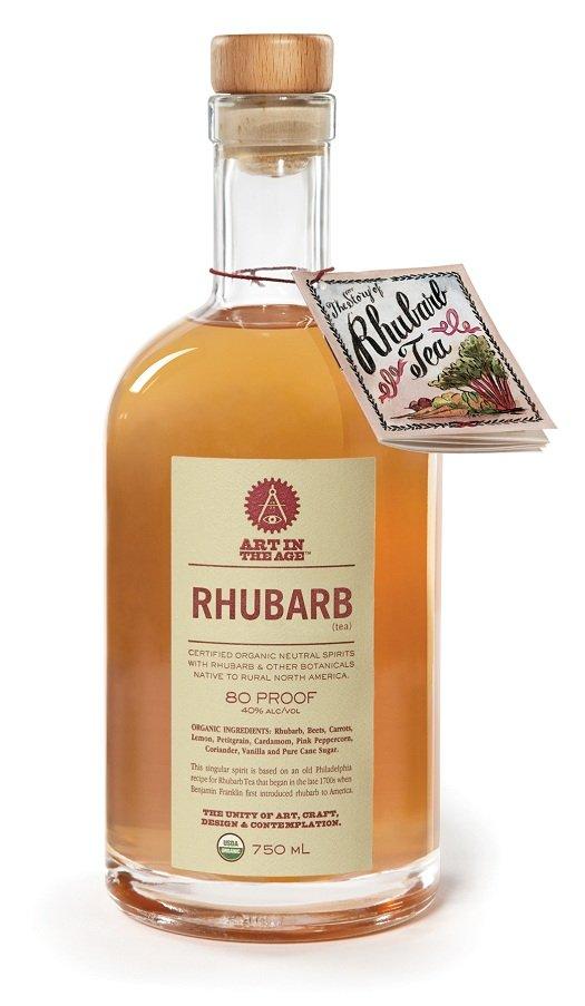 """""""Art in the Age"""" Rhubarb Tea Liqueur"""