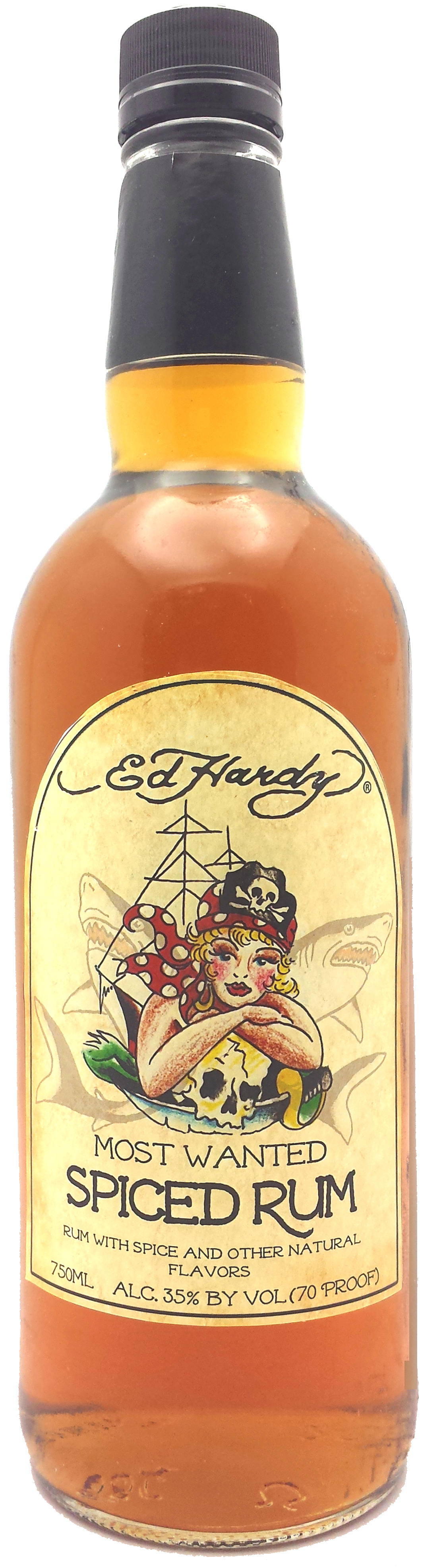 """Ed Hardy """"Most Wanted"""" Spiced Rum"""