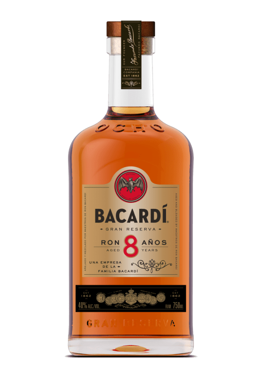 Bacardi Ocho Bottle