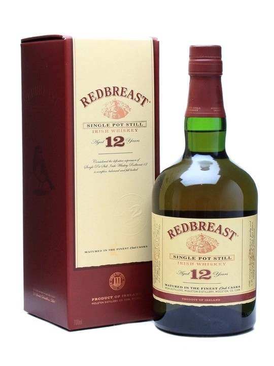 Redbreast Single Pot Still Irish Whiskey 12 Years Old