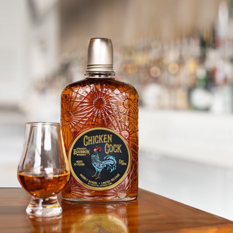 Chicken Cock Double Barrel Bourbon 10 Years Old