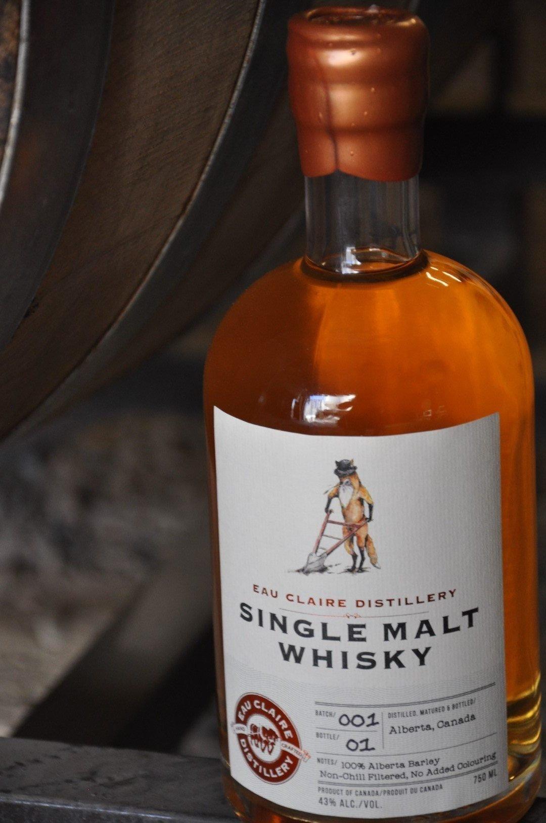 Eau Claire Distillery Single Malt Whiskey