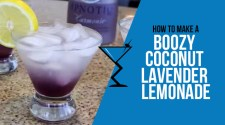 Boozy Coconut Lavender Lemonade