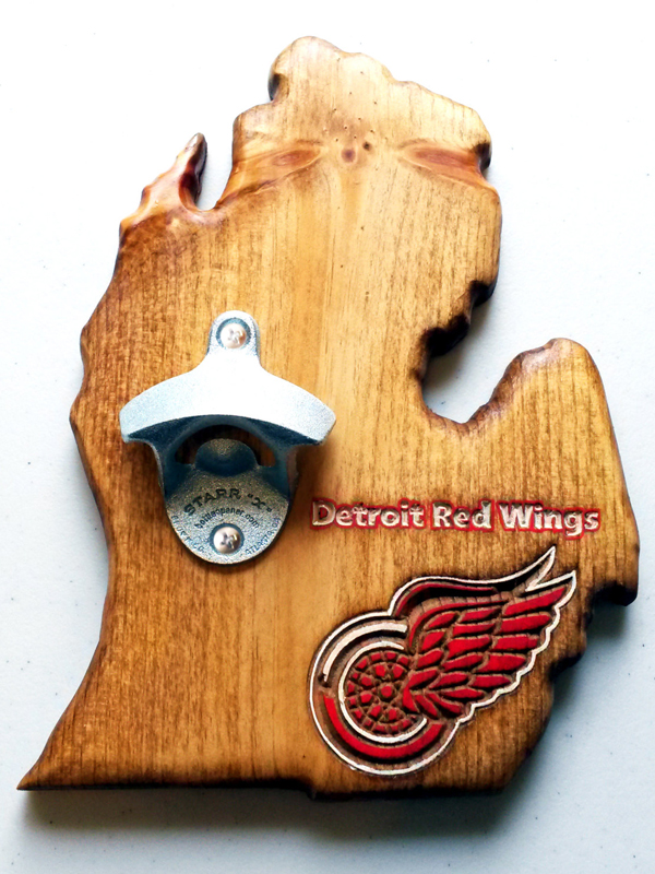 Detroit Red Wings Bottle Opener - Pecan