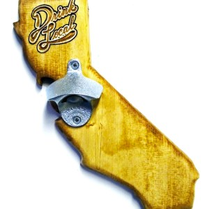 California Bottle Opener - Pecan Stain