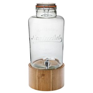 Nantucket Drinks Dispenser with Wooden Stand 300oz / 8.5ltr