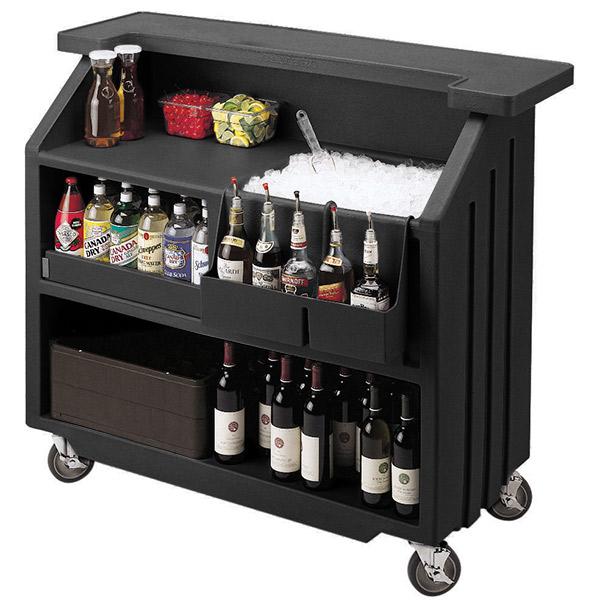 Cambro Portable Bar 540 Black   Mobile Bars Portable Event ... on Portable Backyard Bar id=11398