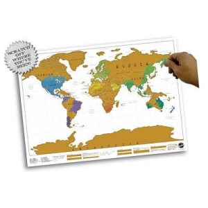Best gifts for travelers: World Map poster