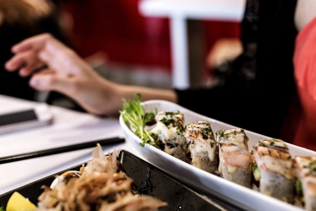 Salmon Sushi at Is Donburi, Northbridge. Photo via Flickr CC Daniel Lee