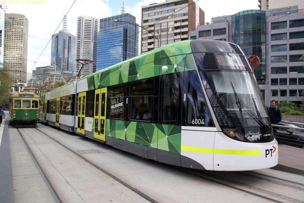 Australia on a budget: use public transportation Melbourne Tram. Victoria. Australia