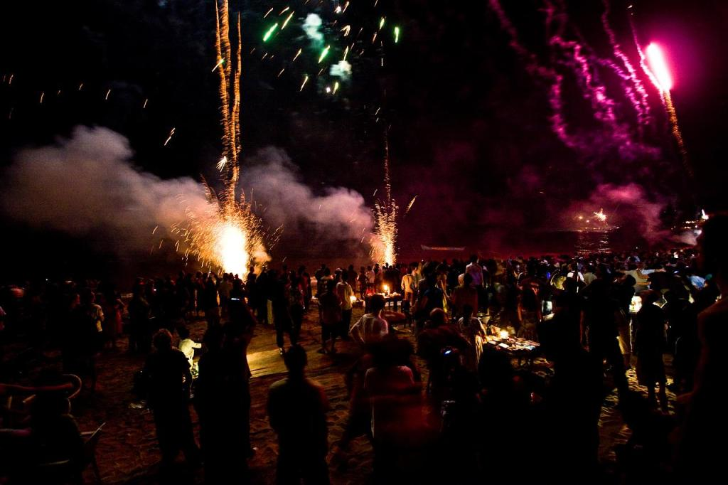 New Years celebrations in Goa, India