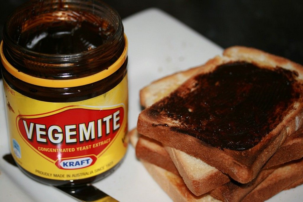 Vegemite on toast. Photo by StephenMitchell via Flickr CC
