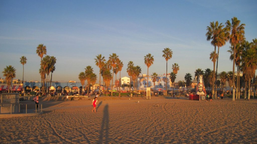 Venice Beach Late Afternoon Sun, Los Angeles, CA. Photo via Flickr CC majunznk
