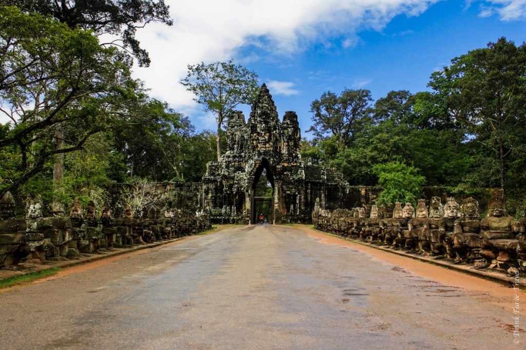 South Gate entrance into Angkor Thom complex