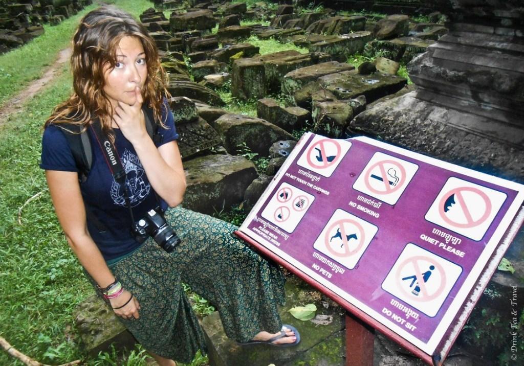 Just a few no-no's at Angkor park