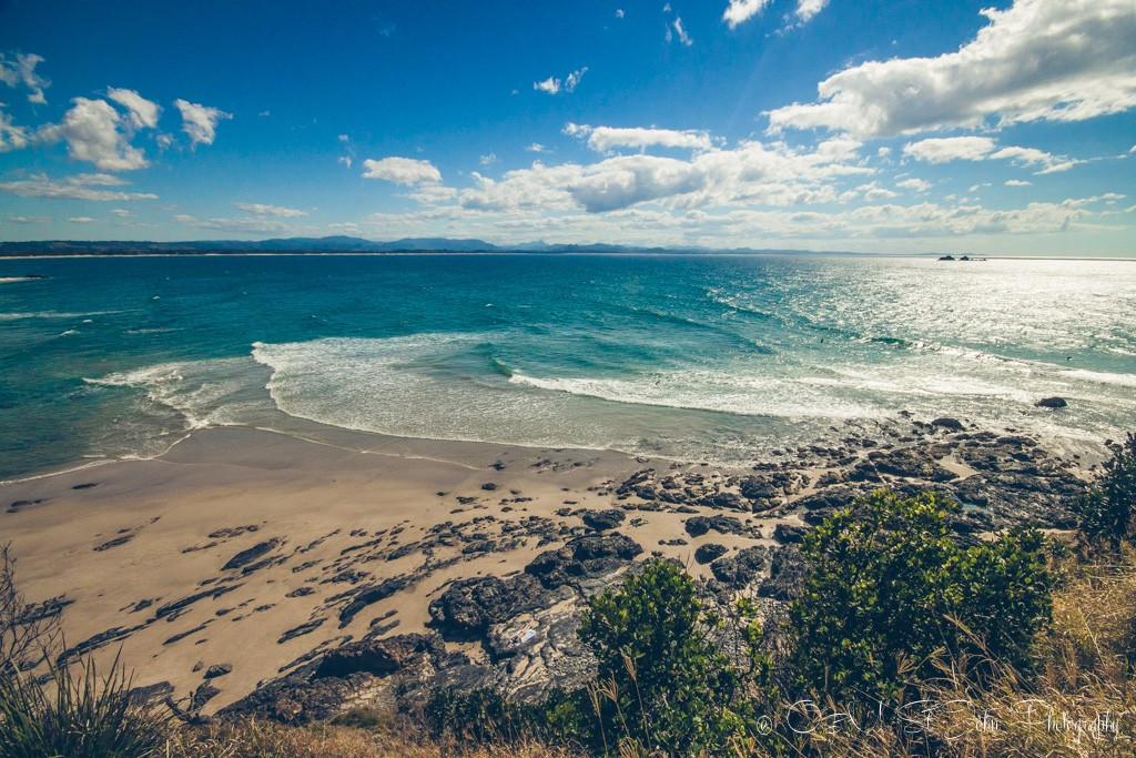 Beautiful clear waters in Byron Bay, Australia