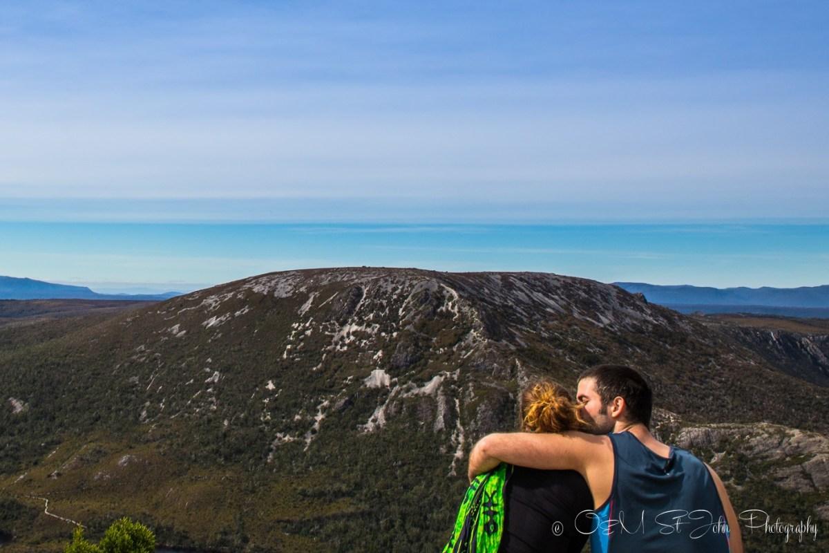 Max and Oksana at the Cradle Mountain National Park. Tasmania. Australia