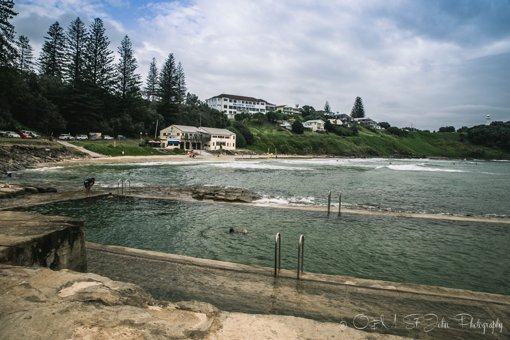 Ocean pools at the Yamba Main Beach, NSW