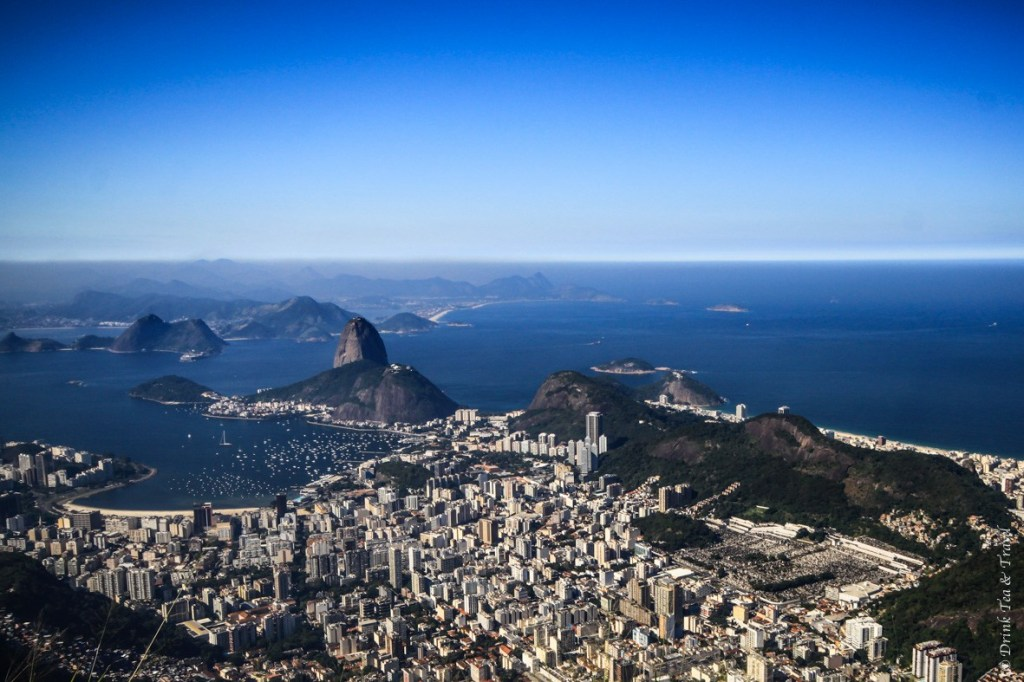 Unobstructed view from the top of Corcovado Mountain