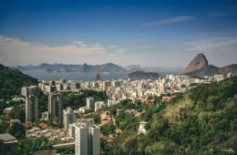 View of Rio de Janeiro form The Pareira da Silva Favela