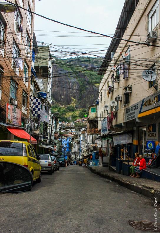 A typical street in Rocinha, largest favela in Rio de Janeiro